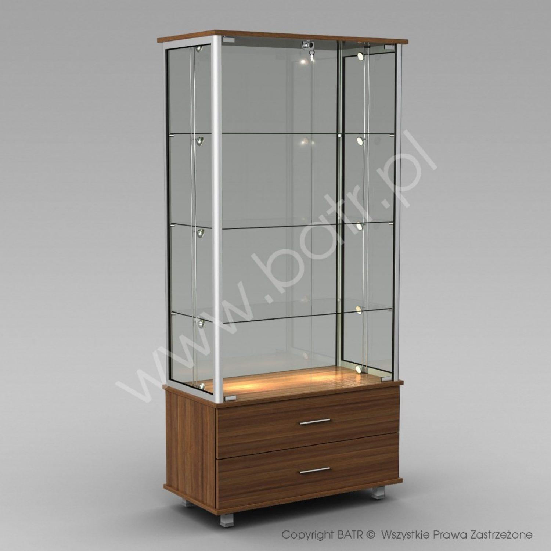 Witryna stojąca dwudrzwiowa z szufladami