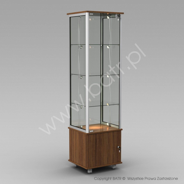 Witryna stojąca jednodrzwiowa na szafce