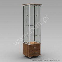 Witryna stojąca jednodrzwiowa z szufladami